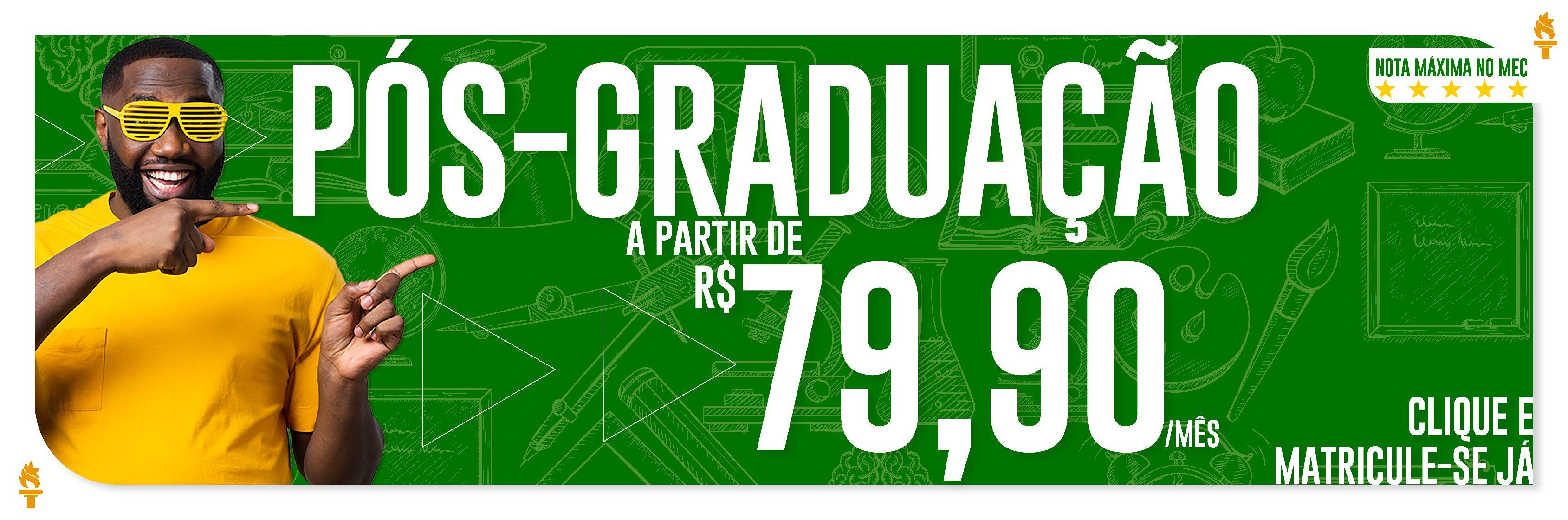 Inscrições abertas para cursos de Pós Graduação