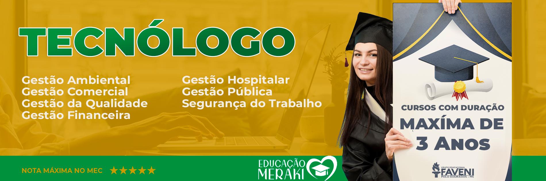 Vestibular Online – Graduação Tecnólogo EaD